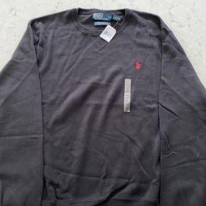 Ralph Lauren Men's Black Polo Cotton Sweater XXL